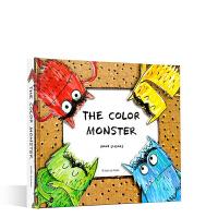 英文原版 The Color Monster 我的情绪小怪兽 3D立体书 Coluor 0-6岁孩子情商教育培养好习惯