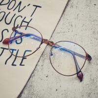 街拍个性防蓝光护目镜复古眼镜框架女配光学近视眼睛男