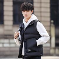 秋冬季新款男士马甲韩版潮流宽松情侣纯色加厚立领棉背心坎肩