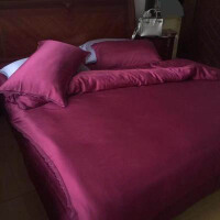 双面天丝四件套色丝绸春夏1.8m酒店用品4件套被套床单床上用品