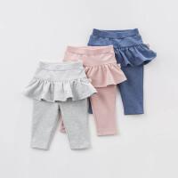 [2件3折价:65.1]戴维贝拉春季新款女童裤子 宝宝打底裤裙裤DB7869