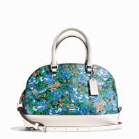 【当当自营】蔻驰(COACH)新款女士玫瑰花卉图案手提斜挎小号贝壳包女包 F57623