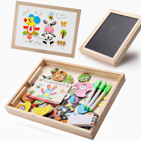 磁性拼图儿童智力玩具1-3-6周岁男孩女孩宝宝早教幼儿木质拼拼乐