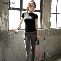 【新春特惠价】Kombucha运动健身三件套女士速干透气弹力修身显瘦紧身衣裤文胸套装HXF33603T3