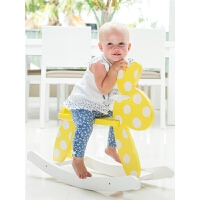 儿童摇马玩具宝宝实木摇摇马摇椅礼物木马