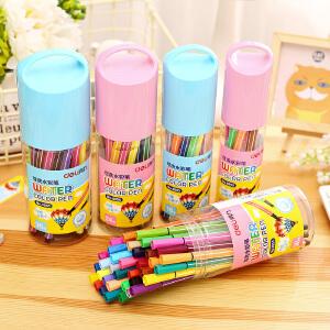 [满68包邮]得力可洗水彩笔12色18色24色36色绘画美术彩笔许愿瓶水彩笔学生