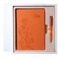 简约创意记事本礼盒套装商务笔记本日记本中性笔套装定制LOGO 240页道林纸