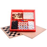 儿童木制六合一军围棋玩具智力国际象棋多功能桌面游戏