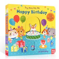 【全店300减100】英文原版 Happy Birthday: Sing Along With Me! 跟我一起唱系列: