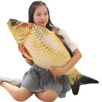 玩偶萌睡觉抱女孩 仿真鲤鱼抱枕公仔3d毛绒玩具可爱韩国搞怪布娃娃