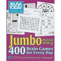 【预订】USA Today Jumbo Puzzle Book 2: 400 Brain Games for