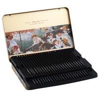 马可雷诺阿3200�\木油性彩色铅笔48色 手绘专业美术绘画 铁盒套装