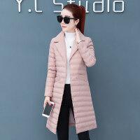 棉衣女中长款冬季轻薄冬季外套韩版薄款羽绒时尚显瘦