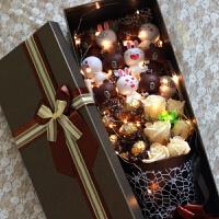 布朗熊可妮兔子卡通花束小熊娃娃玩偶礼盒玫瑰520情人节礼物礼品