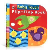 英文原版 Baby Touch: Flip-Flap Book 宝宝触摸书:纸板翻翻书大开本 幼儿触觉感官体验英语早教