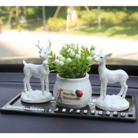 车内饰品摆件汽车装饰用品一路平安小鹿装饰品高档个性创意礼物