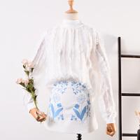 2018春季新韩版女装纯色半高领女式套头长袖T恤