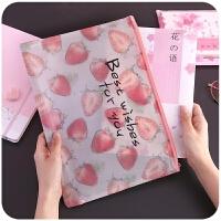 满5件包邮 韩国透明文件袋拉链 学生A4试卷袋考试档案资料夹收纳包女