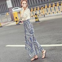 几何图案修身裙夏新款17泰国风包臀长款雪纺系带不规则半身长裙女 浅蓝色(品质) 均码(腰围可调节)