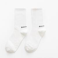 【内衣优选】长袜蓝色韩版薄款韩国彩色中筒袜网红夏天潮袜子女学院风堆堆袜 BAL白色 均码