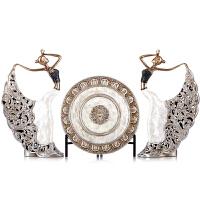 欧式摆件客厅玄关电视柜孔雀舞女套装饰品结婚礼物