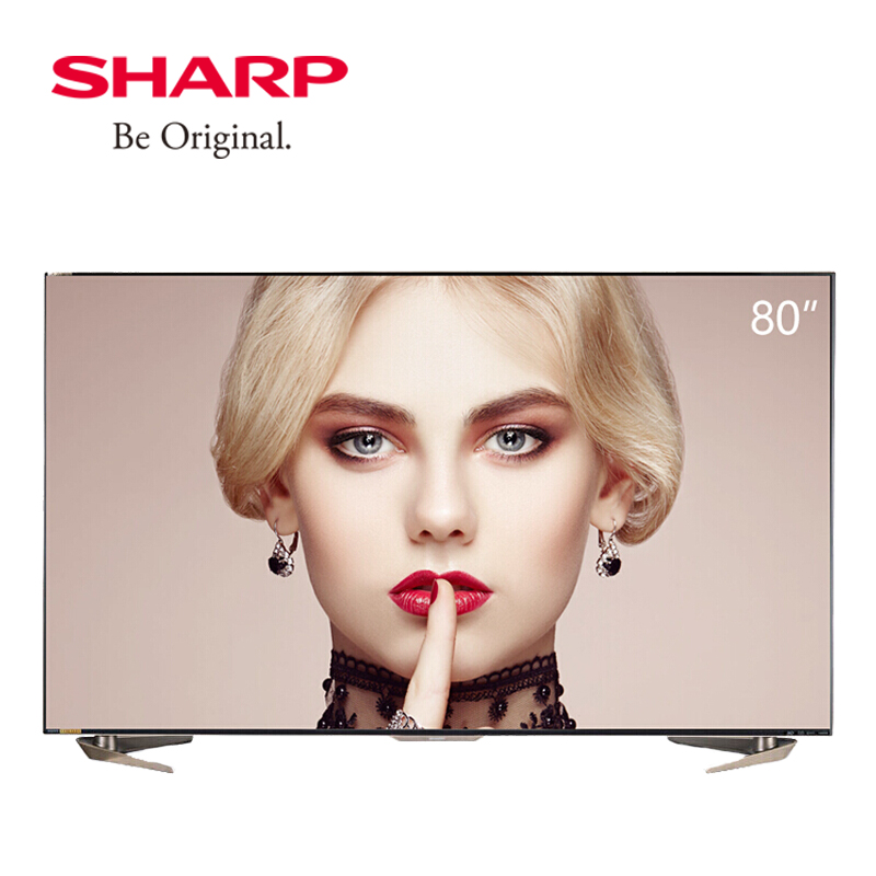 夏普(SHARP) LCD-80X8600A 80英寸4K超高清安卓智能网络液晶平板电视 日本原装面板,双线wifi,下单有惊喜,