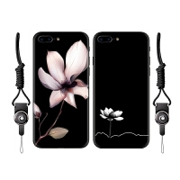 iPhone8手机壳女款苹果8plus全包硅胶套挂绳