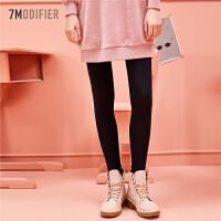 【3折到手价 59元】拉夏贝尔7m装新款韩版小脚铅笔黑色紧身裤女学生长裤子潮
