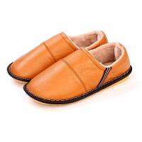 冬季居家棉拖鞋男女保暖情侣室内防滑厚底居家棉鞋包跟牛筋底