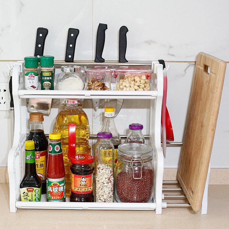 双层厨房置物架落地调料架调味架储物收纳架厨具用品用具 发货周期:一般在付款后2-90天左右发货,具体发货时间请以与客服协商的时间为准