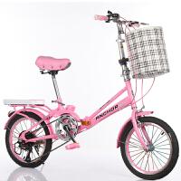 儿童自行车14寸16寸20寸折叠自行车代步车小学生轻便单车小那女孩脚踏车子六一儿童节礼物