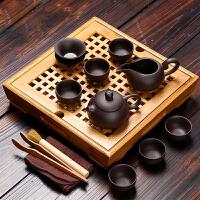 小型功夫整套装茶具迷你紫砂陶瓷家用茶盘简易茶杯6人办公室茶海