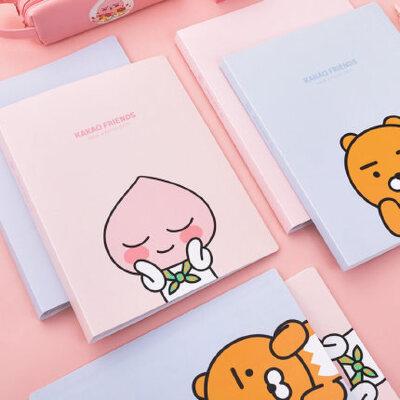 得力a4文件夹可爱产检资料收纳册宝宝儿童成长册记录册孕检资料册学生卡通彩色资料册