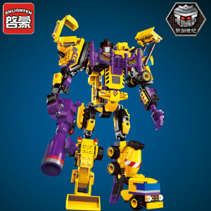 启蒙拼装积木1401变形机器人金刚创世者战神大力神玩具小学生男童