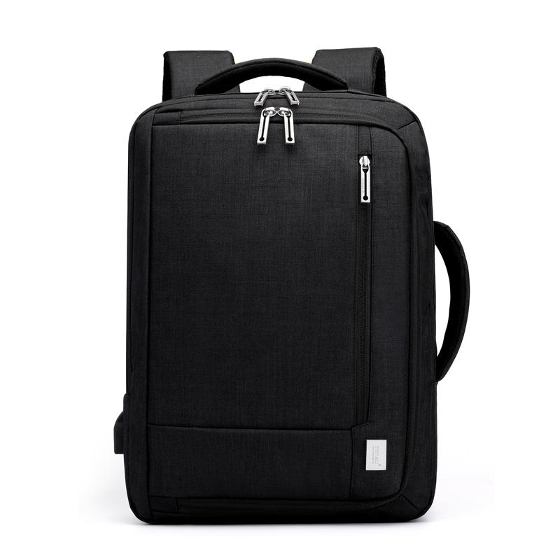 双肩电脑包简约15.6寸16寸男大学生书包男士办公便携商务笔记本手提双肩包