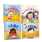 儿童英文原版 Everybody Feels 每个人的感觉4册 绘本故事书 性格培养 情绪管理词汇积累 Scholas