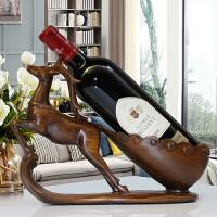 红酒架摆件酒柜装饰品现代客厅电视柜摆设*酒托乔迁新居礼品