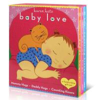 Karen Katz经典翻翻书 Baby Love counting kisses 3本幼儿启蒙认知 英文原版绘本 纸