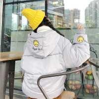 可爱女短款冬装袄子加厚保暖学生面包服外套学院风宽松棉衣潮