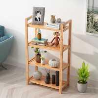 楠竹置物架用落地多层收纳架阳台架子储物客厅书架卧室厨房实木