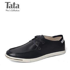 Tata/他她春季专柜同款油蜡牛皮时尚休闲男单鞋F6922AM6 专柜1