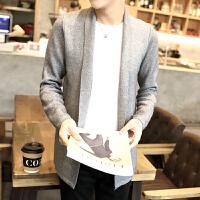 秋款毛衣男韩版针织开衫外套修身针织衫薄外套线衫英伦时尚男士潮