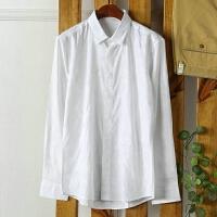 柜子剪标出品 百搭青年白衬衫男长袖素雅提花修身职业装衬衣寸衫