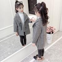 童装女童洋气毛呢外套秋冬装2018新款儿童小女孩加厚呢子大衣韩版