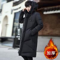棉衣男中长款冬季外套男士韩版潮流修身棉袄男生帅气冬天衣服