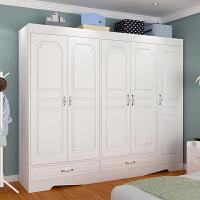 亿家达衣柜简易组装吸塑板仿实木色简约现代家用卧室衣帽柜储物柜