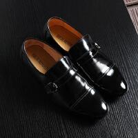 男士皮鞋春装黑色亮面正装百搭皮鞋男鞋子套脚工装男鞋职业装皮鞋