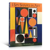 英文原版 I Spy Shapes in Art 艺术与形状 视觉大发现 亲子互动找茬游戏艺术绘本 锻炼儿童观察能力