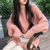 宽松孕妇毛衣孕妇装秋冬装上衣新款韩版中长款长袖打底针织衫套头