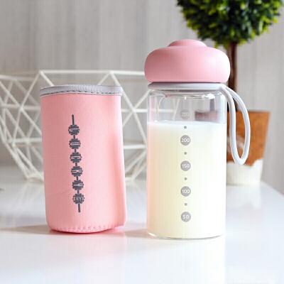宝宝喝奶杯 抖音网红水杯玻璃杯儿童牛奶杯带刻度玻璃量杯女喝奶粉杯便携 偏远地区发货受限制,具体地区请咨询在线客服